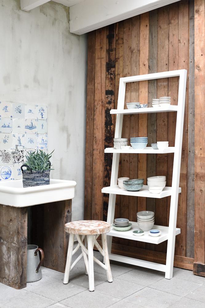 regal standregal rack weiss k chenregal b cherregal vintage new maison esto ihr gro er. Black Bedroom Furniture Sets. Home Design Ideas