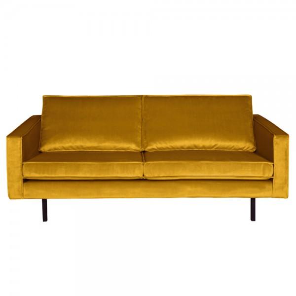 2,5 Sitzer Sofa Rodeo Samt ocker Couch Garnitur Samtsofa Couchgarnitur