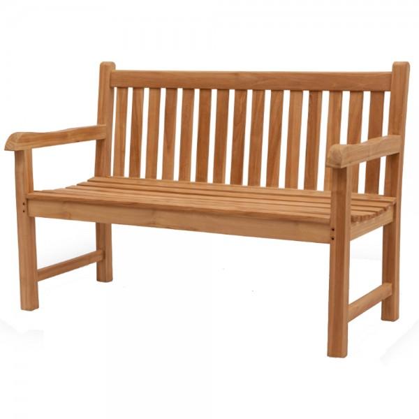 Teak Holz Gartenbank BISON 150 cm