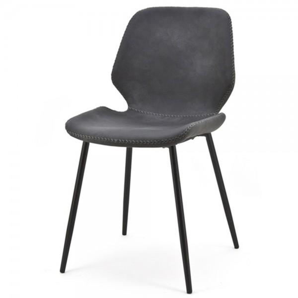 2er Set Esszimmerstuhl Seashell schwarz Stuhl