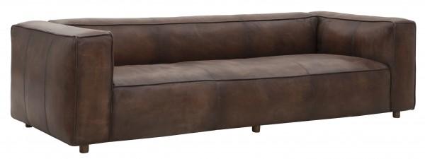 3-Sitzer Lounge Sofa 254 cm Vintage Leder Manhattan Ledersofa klassisch modern coffee
