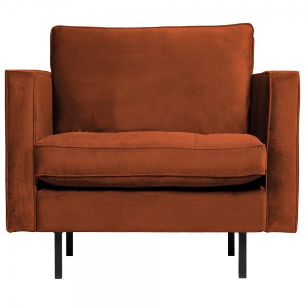 1,5 Sitzer Sessel Rodeo Classic Samt rostfarben Lounge Armlehnsessel Fernsehsessel