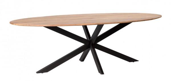 Esstisch Oslo 210 cm Akazie Holztisch oval