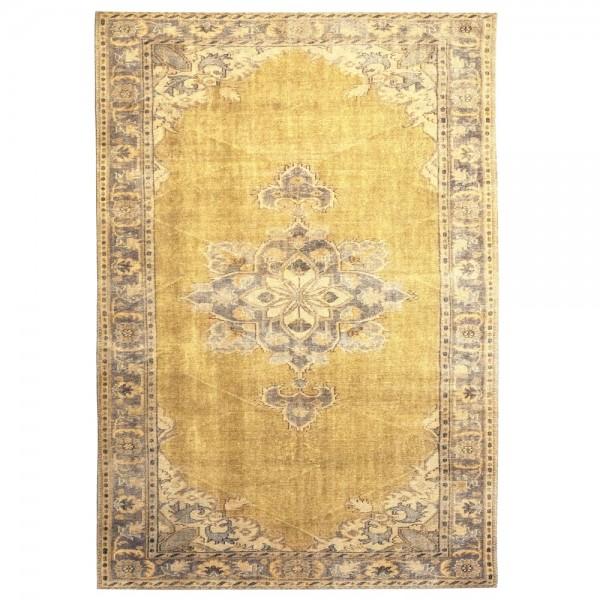 Vintage Teppich Blush 200 x 290 cm gelb Oriental Persisch Muster Carpet klassisch orientalisch