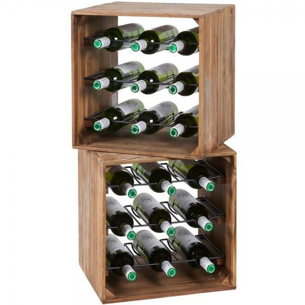 Weinregal Chardonnay Flaschenständer Weinständer Flaschenregal Holzregal Wein