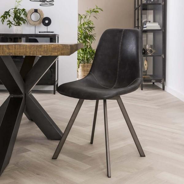 Esstischstuhl Esszimmerstuhl SADDLE Küchenstuhl schwarz Stuhl