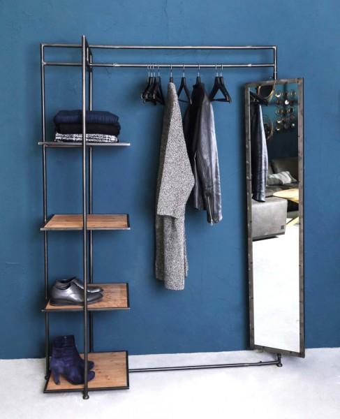 PTMD Industrie Garderobe mit Spiegel Metall Abby