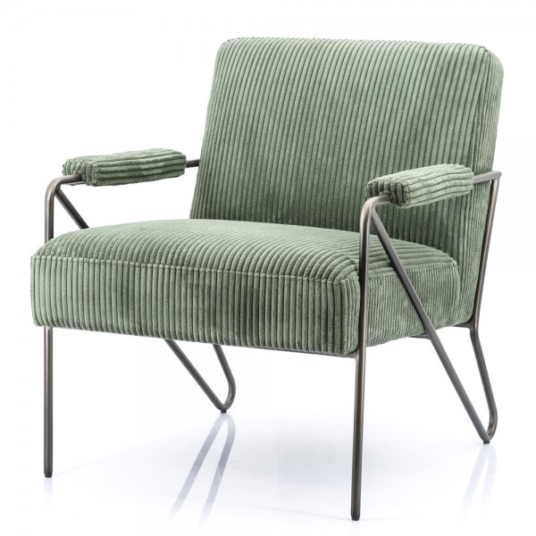 Sessel Wendy Cord grün