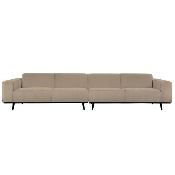 4 Sitzer Sofa STATEMENT XL Bouclé beige Couch Garnitur Couchgarnitur