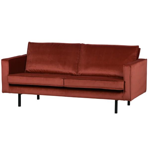 BePureHome 2,5 Sitzer Sofa RODEO Samt Kastanie
