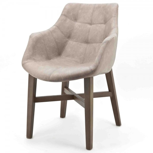 Design Stuhl NEBA sand mit Armlehne