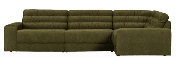 BePureHome Ecksofa Date vintage grün Longchair rechts
