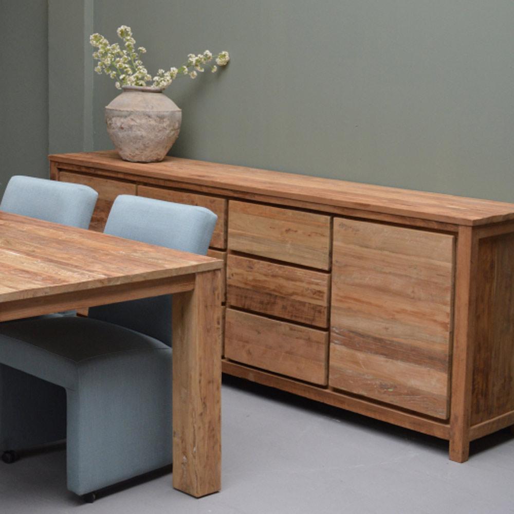 vintage sideboard los angeles teakholz 2 t ren 6. Black Bedroom Furniture Sets. Home Design Ideas