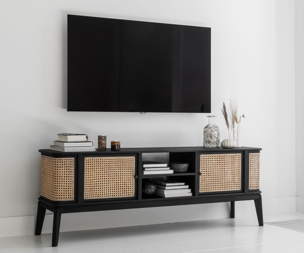 MUST Living Rattan TV Board Lowboard BOHEME Raffles 170 cm