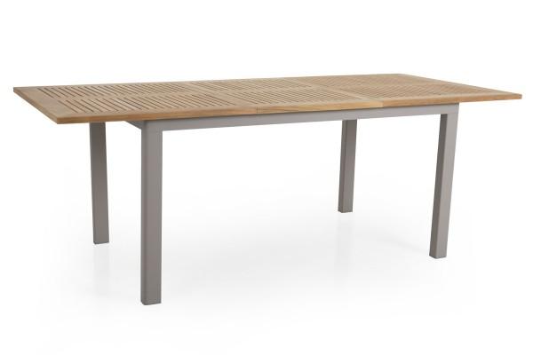 Teak Gartentisch ausziehbar LYON 150 / 210 cm khaki