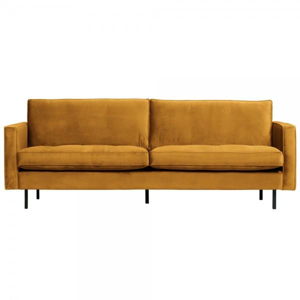 2,5 Sitzer Sofa Rodeo Classic Samt ocker Couch Loungesofa Couchgarnitur