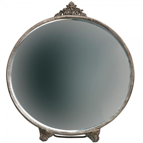 Standspiegel POSH rund Metall Mirror Tischspiegel Bad Dekoration antikmessing