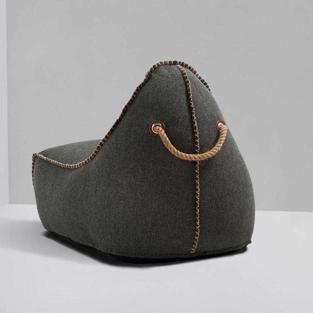 garten sitzsack cobana f r drinnen und drau en retro grau. Black Bedroom Furniture Sets. Home Design Ideas