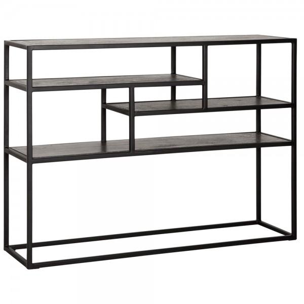 MUST LIVING Sideboard Mont BLANK 125 x 35 cm Basalt Beton Metall Tisch Regal