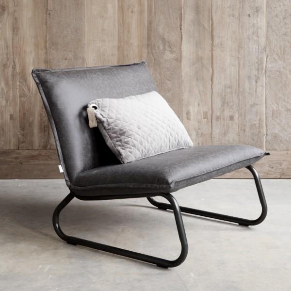 DTP HOME Loungechair Sessel YARRA Leder schwarz