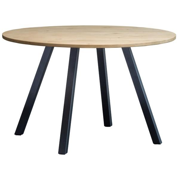 Tischplatte Tablo rund Ø 120 cm Eiche unbehandelt Esstischplatte Esstisch