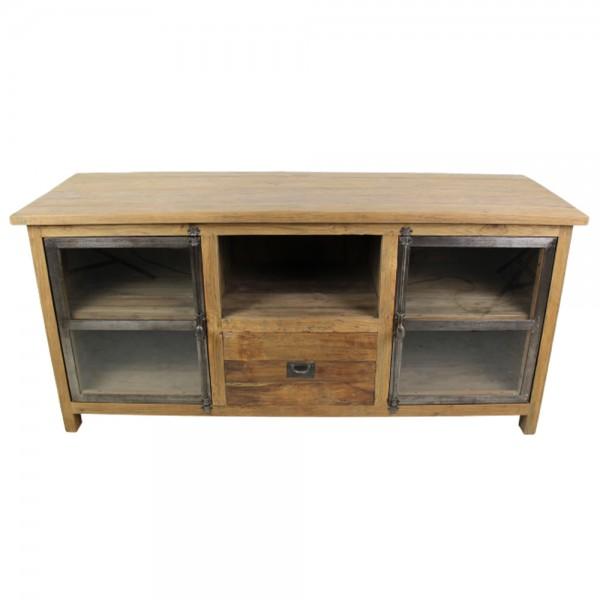 Vintage TV Möbel B 150 cm Lowboard 2 Türen Schublade Fernsehtisch Kommode Rack