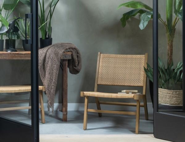 2er Set Garten Stuhl Puk Aluminium braun natur Gartenstuhl