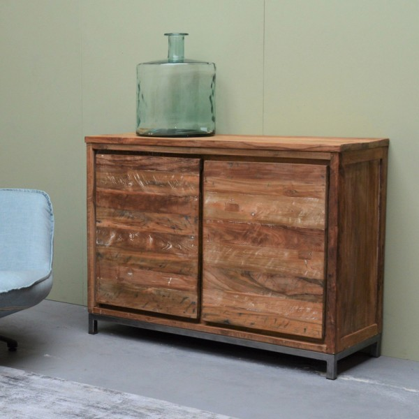 Vintage Sideboard Boston 120 Cm Teak Kommode Schrank