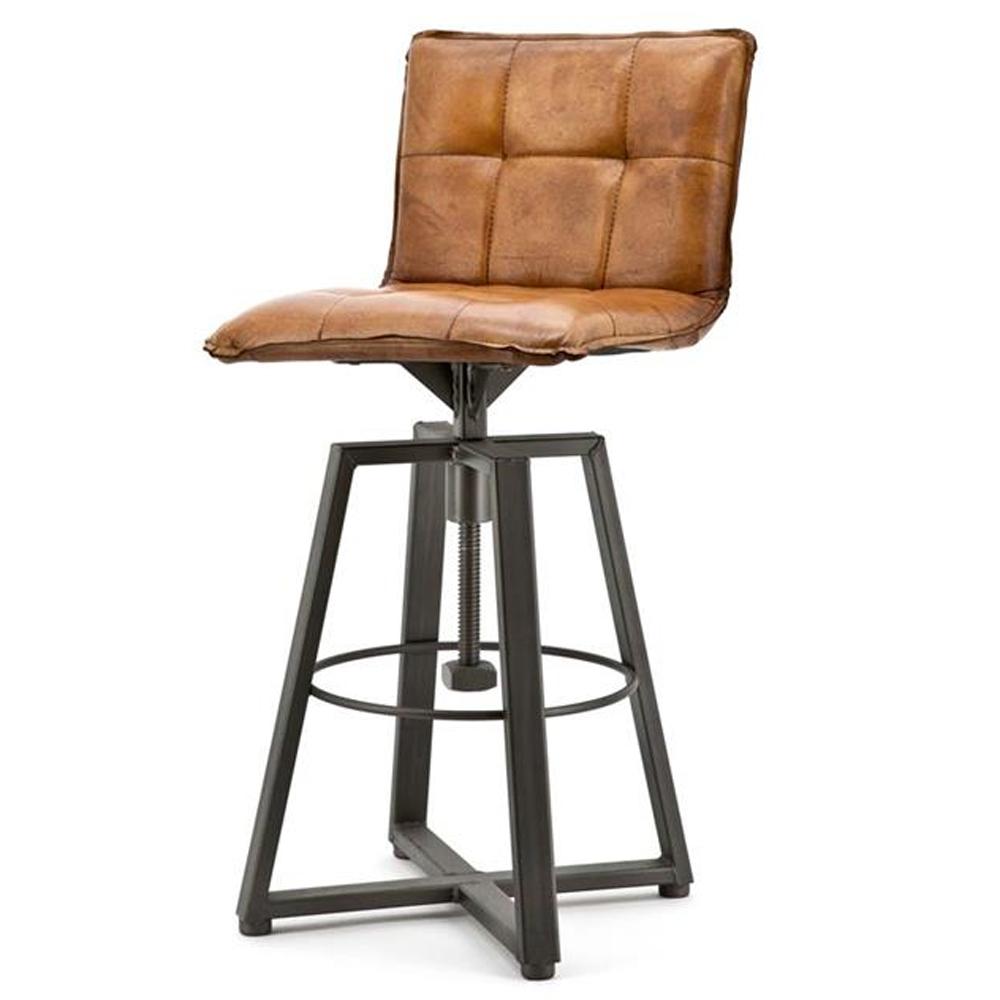 barstuhl verona cognac barhocker bar hocker stuhl bezug leder h henverstellbar new maison. Black Bedroom Furniture Sets. Home Design Ideas