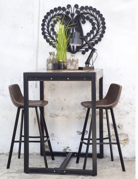 Industrie Bartisch 140 x 80 cm Stehtisch Metall schwarz