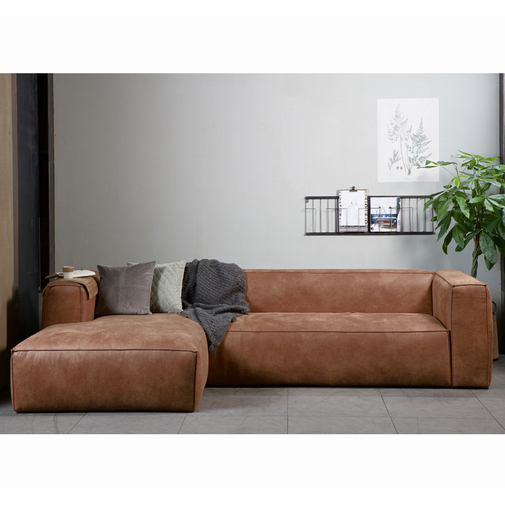 eckgarnitur bean leder cognac couch polster sofa ecksofa. Black Bedroom Furniture Sets. Home Design Ideas