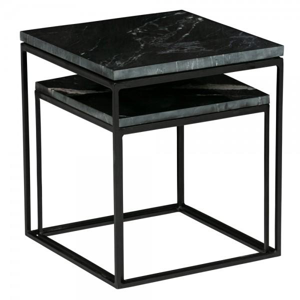 2er Set Beistelltisch Metallic Metall Marmor Sofatisch Anstelltisch Couchtisch