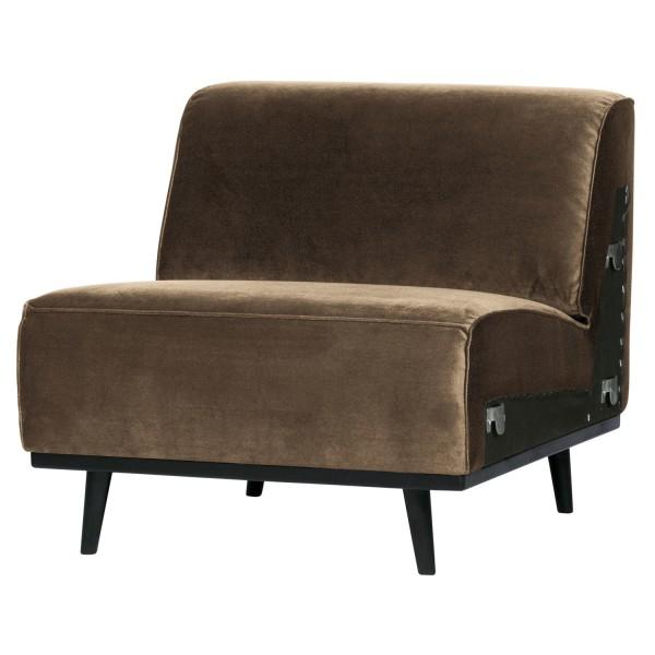 BePureHome 1 Sitzer Sessel Element Erweiterung Statement Samt taupe