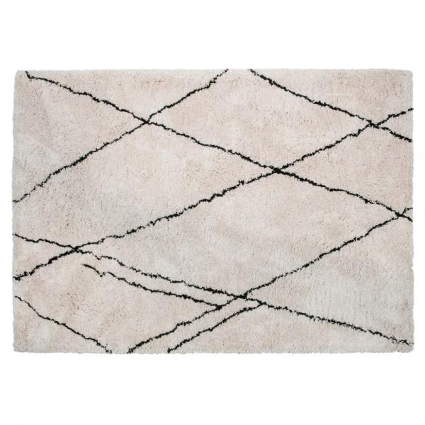 Wohnzimmer Vintage Teppich Cleo 170 x 240 cm offwhite Teppiche Carpet