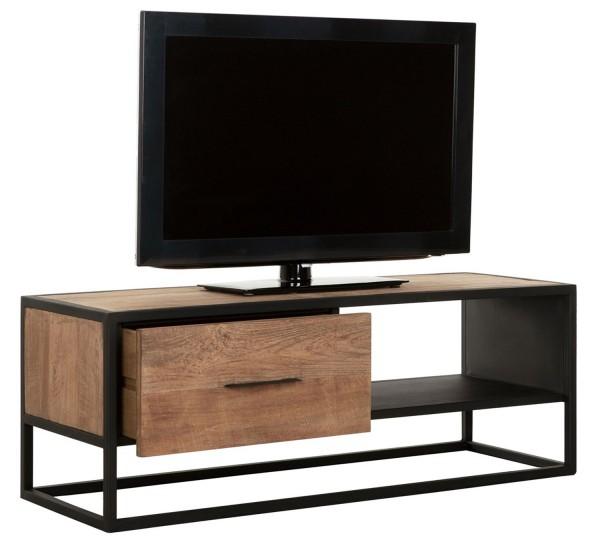Must Living TV Möbel Elemental 110 cm Teakholz Metall