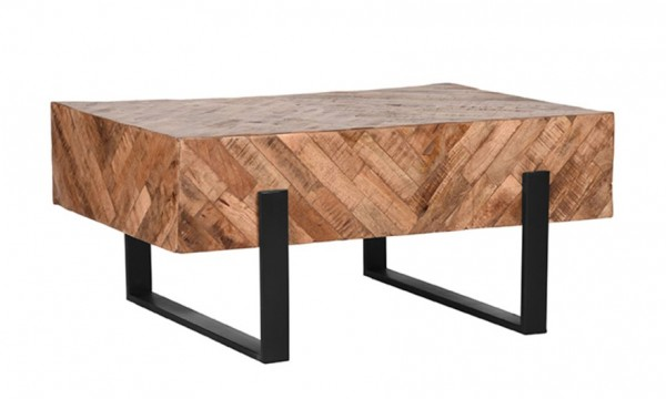 Couchtisch River 90 x 60 cm Mango Holz Metall