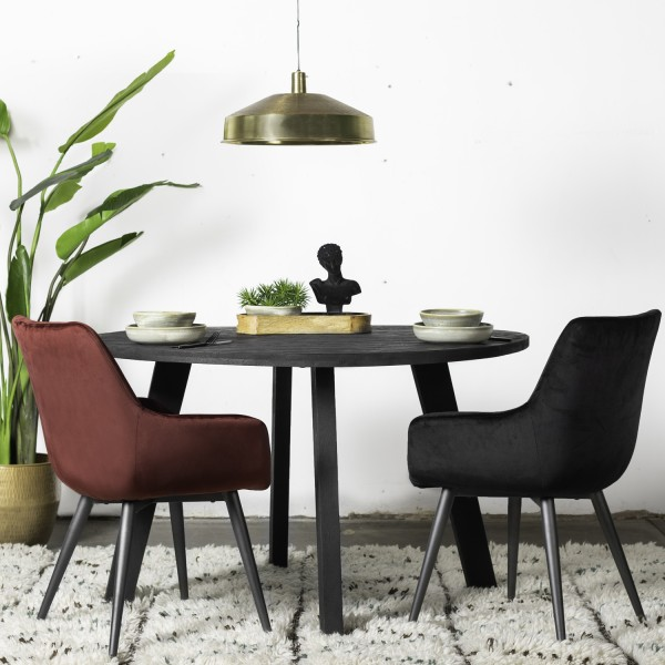 Esstisch Manolo schwarz rund Ø 130 cm Holztisch