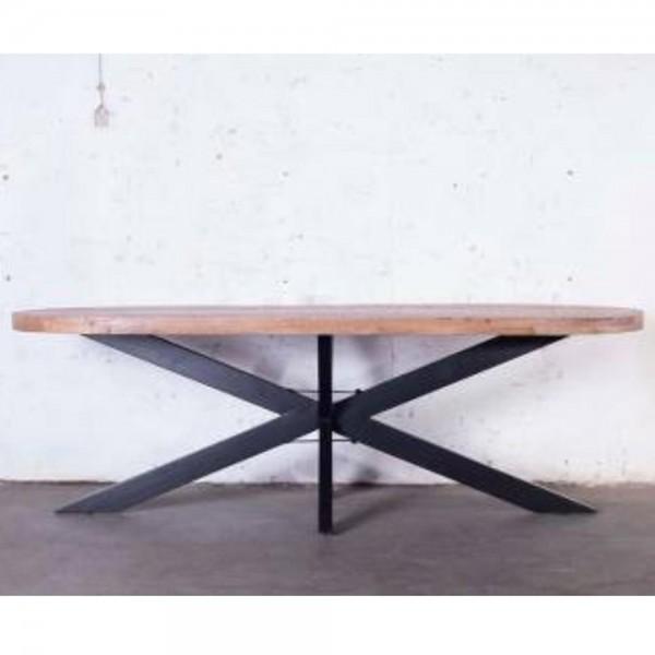 Industrie Esstisch BARN oval 240 x 110 cm Tisch Mango