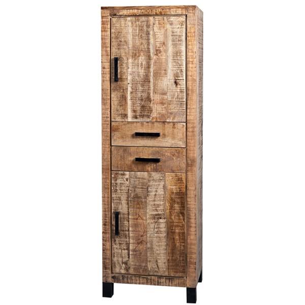 Charmant Vintage Landhaus Hochschrank 2 Schubladen Holzschrank Aufbewahrungsschrank