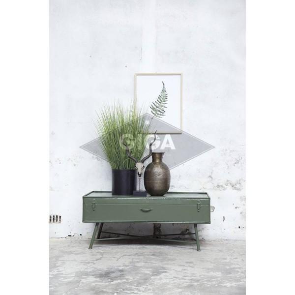 Kaffeetisch Iron 110 x 60 cm Metall Vintage grün Sofatisch Beistelltisch Tisch