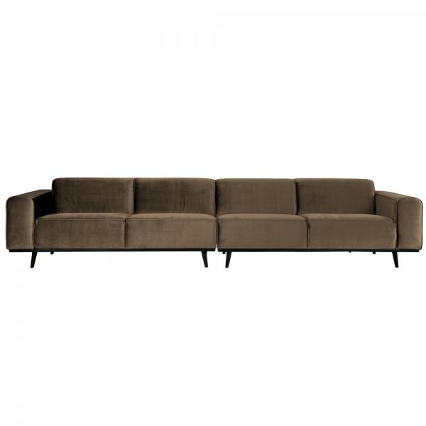 4 Sitzer Sofa STATEMENT XL Samt taupe Couch Garnitur Couchgarnitur