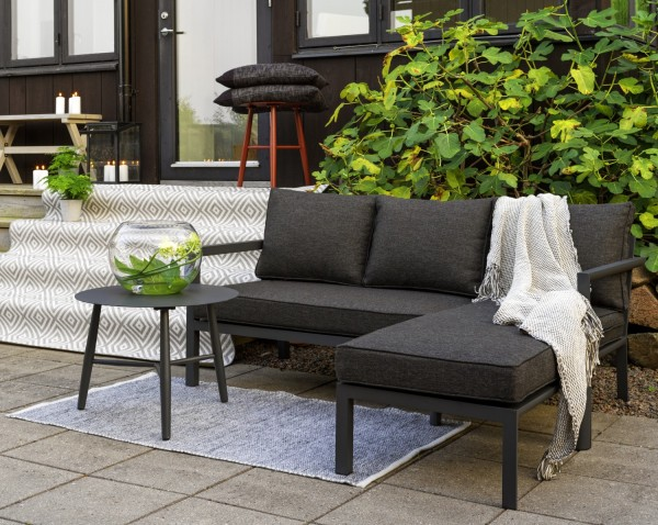 Garten Lounge Set DEALIA Diwan Sofa dunkelgrau