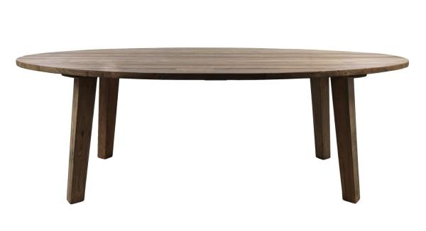 Teak Gartentisch oval 220 x 100 cm Teaktisch Holztisch massiv