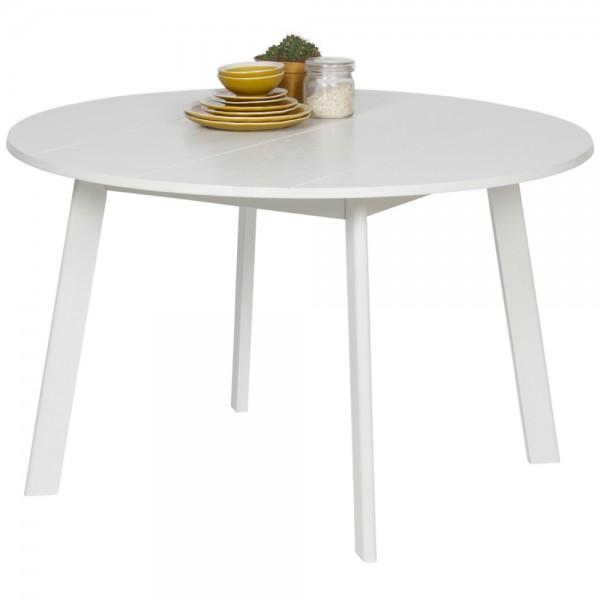 Esstisch Camelot Ø 120 cm Esche weiß Massivholz Dinnertisch Tisch Esszimmertisch