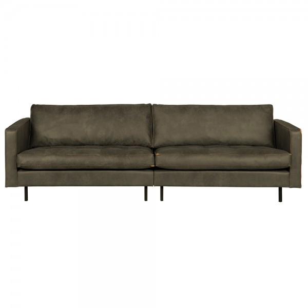 3 Sitzer Sofa RODEO CLASSIC armygrün recyceltes Leder