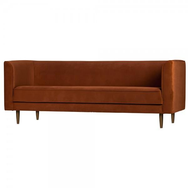 vtwonen 3 Sitzer Sofa Studio Samt rost 220 cm Samtcouch Couch