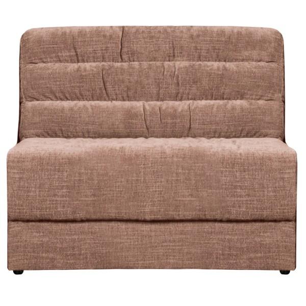 BePureHome Erweiterungselement 90 cm für Sofa Date vintage Samt rougefarben