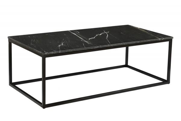 Couchtisch Dion Marble 120 x 60 cm Metall Marmor schwarz