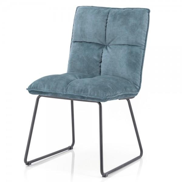 Esszimmerstuhl Ruby Samt blau Stuhl