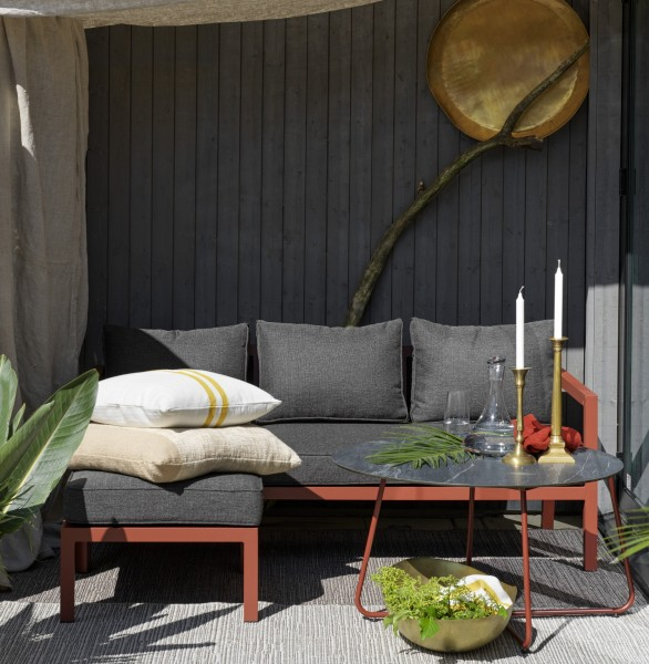 Garten Lounge Set DEALIA Diwan Sofa rost rot